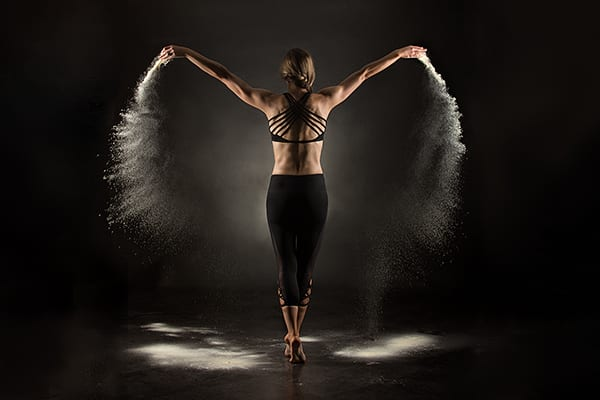 Using powder as an element in photography